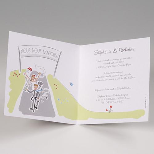 Hochzeitseinladungen traditionell - Fahrrad 50822 preview