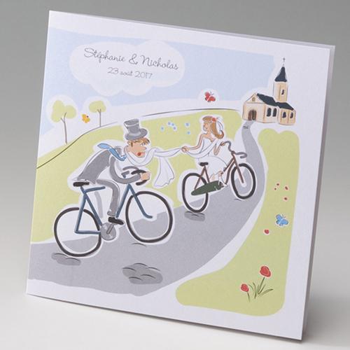 Hochzeitseinladungen traditionell - Fahrrad 50823