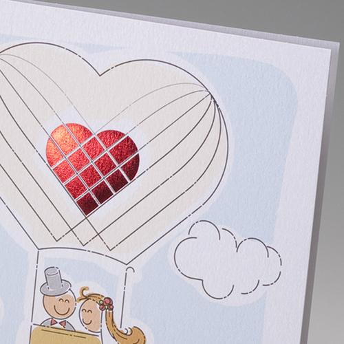 Hochzeitseinladungen traditionell - Ballon 50826 preview