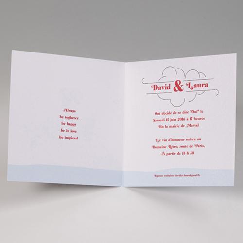 Hochzeitseinladungen traditionell - Ballon 50827 preview