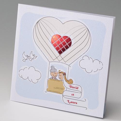 Hochzeitseinladungen traditionell - Ballon 50828