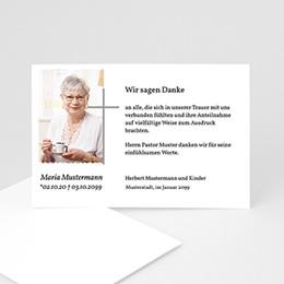 Karten Décès Chrétien Abschied