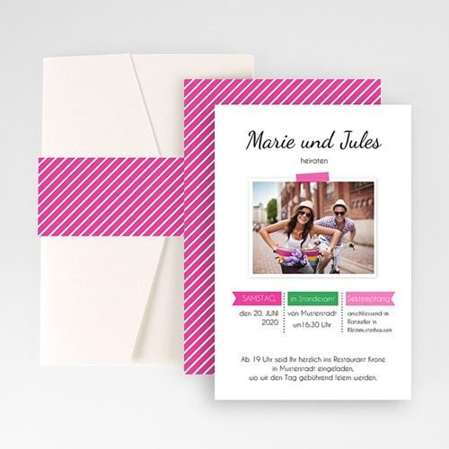 Hochzeitskarten Querformat - Poppig 50847