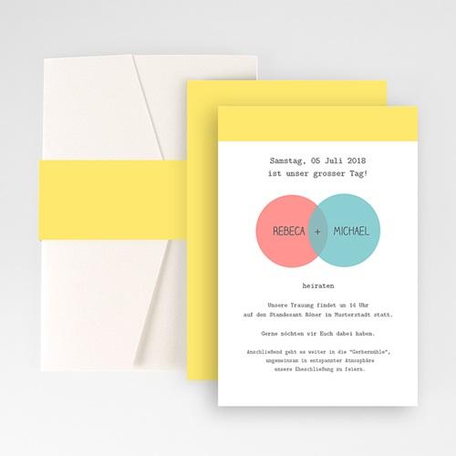 Hochzeitskarten Querformat - Pastell 50849