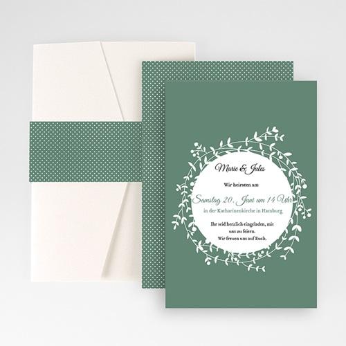 Hochzeitskarten Querformat - Diadem 50851