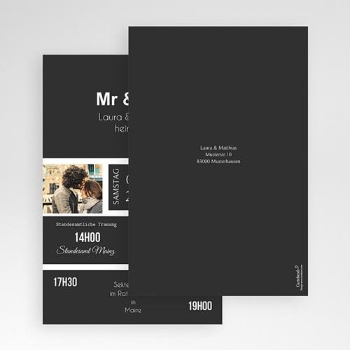 Hochzeitskarten Querformat - Unzertrennlich 50856 preview