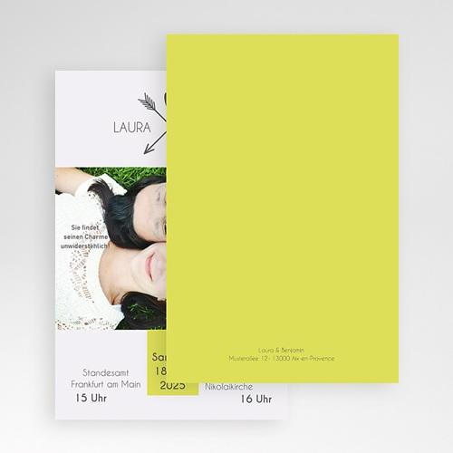 Hochzeitskarten Querformat - Liebespfeil 50864 test