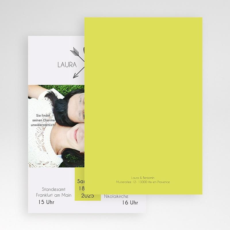 Hochzeitskarten Querformat - Liebespfeil 50864 thumb