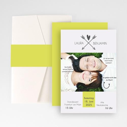 Hochzeitskarten Querformat - Liebespfeil 50865