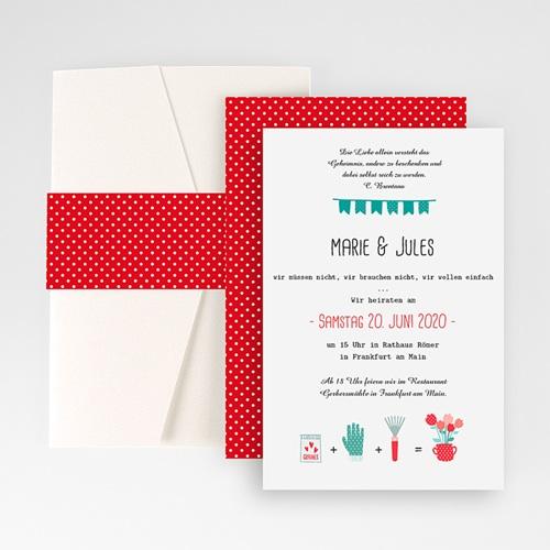 Hochzeitskarten Querformat - Beet 50873