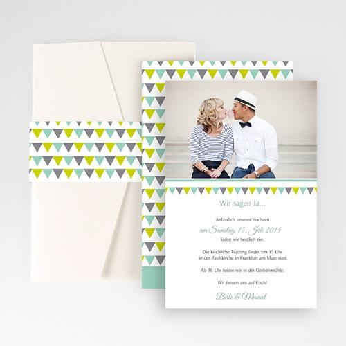 Hochzeitskarten Querformat - Charmant 50879