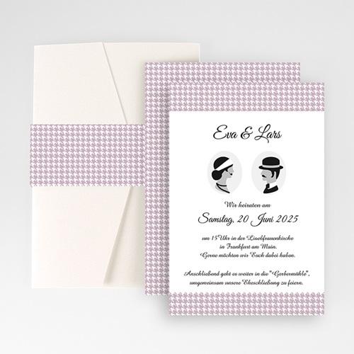 Hochzeitskarten Querformat - Frisch getraut 50883