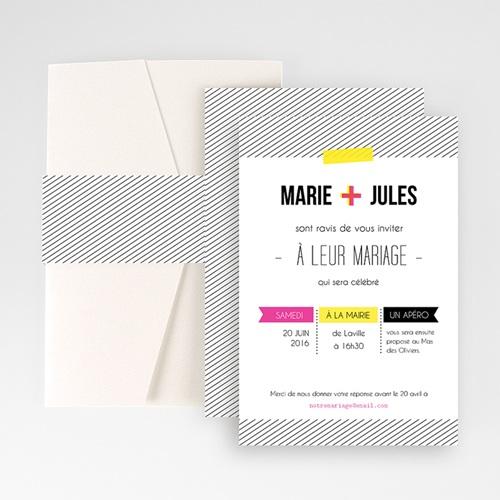 Hochzeitskarten Querformat - Neon Gelb 50891