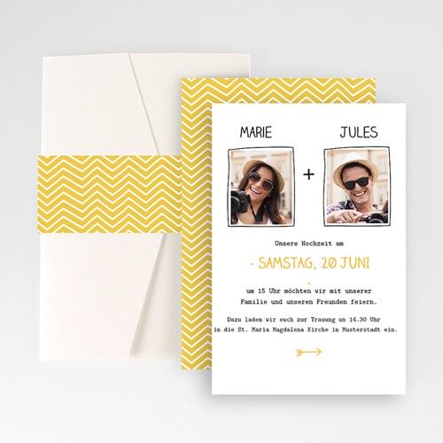 Hochzeitskarten Querformat - Herzlich 50895