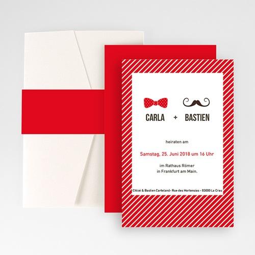 Hochzeitskarten Querformat - Madame und Monsieur 50901
