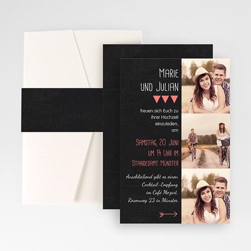 Hochzeitskarten Querformat - Klar 50903