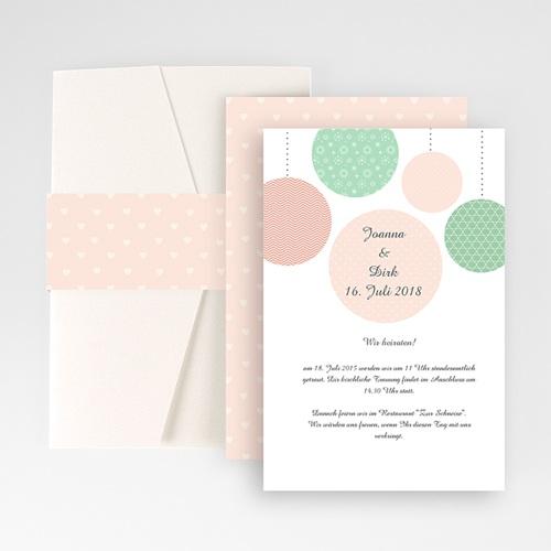 Hochzeitskarten Querformat - Pünktchen 50913