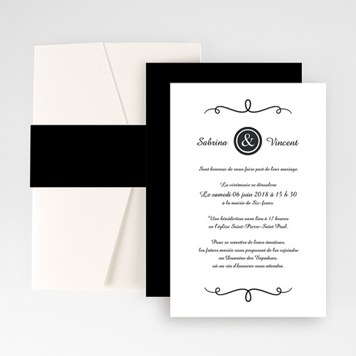 Hochzeitskarten Querformat - Schlichte Eleganz 50917