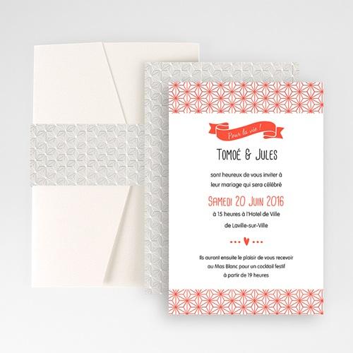 Hochzeitskarten Querformat - Origami 50919