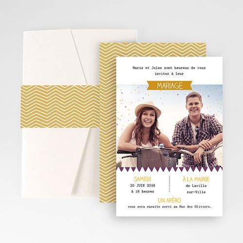 Hochzeitskarten Querformat - Farbspiel  50923