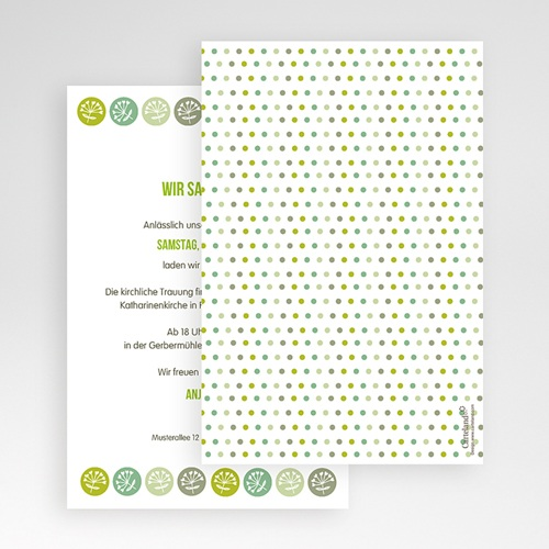 Hochzeitskarten Querformat - Green Wedding 50924 preview