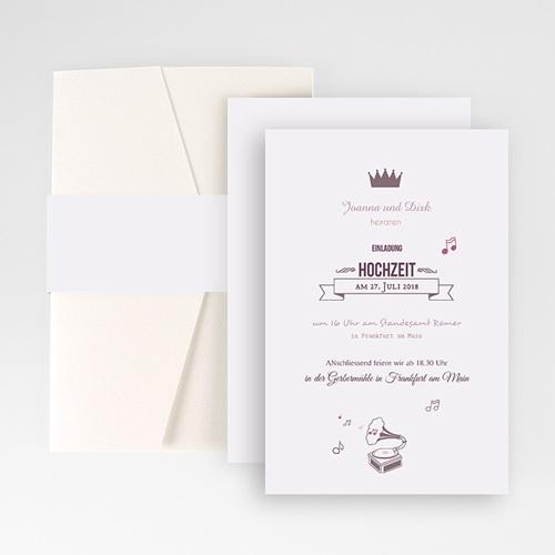 Hochzeitskarten Querformat - Weich und fein 50933