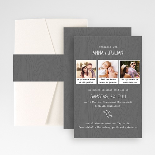 Hochzeitskarten Querformat - Fotoroman 50939