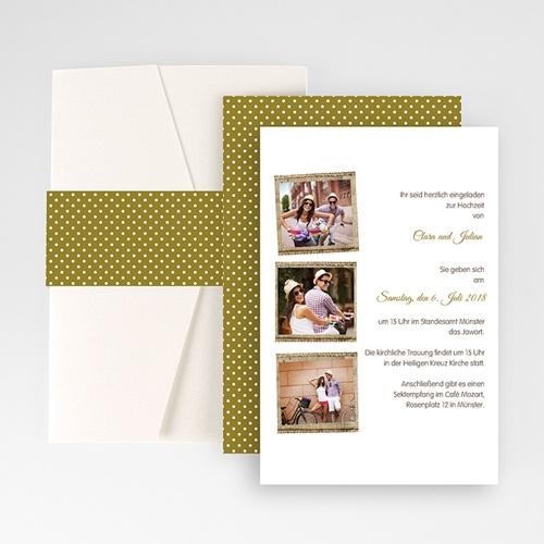Hochzeitskarten Querformat - Ambiente Boho  50941