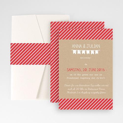 Hochzeitskarten Querformat - Linienförmig 50947