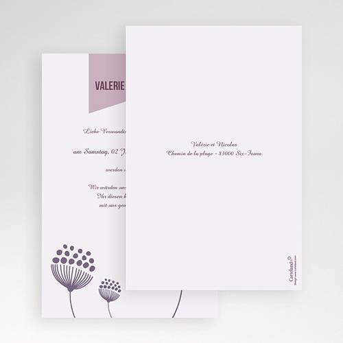 Hochzeitskarten Querformat - Violetta 50950 test