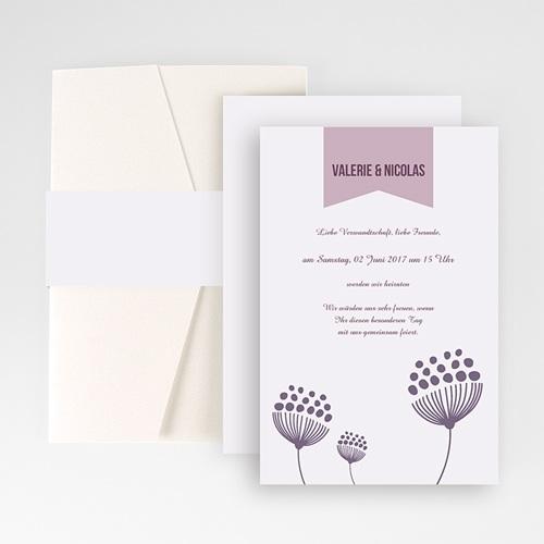 Hochzeitskarten Querformat - Violetta 50951 test