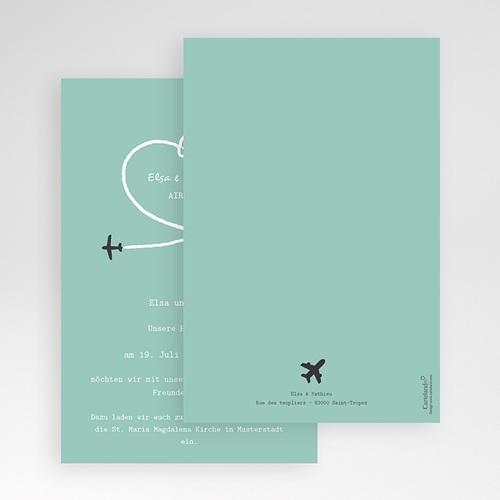 Hochzeitskarten Querformat - Weltenbummler 50956 preview