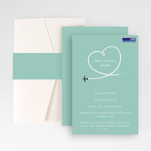 Hochzeitskarten Querformat - Weltenbummler 50957