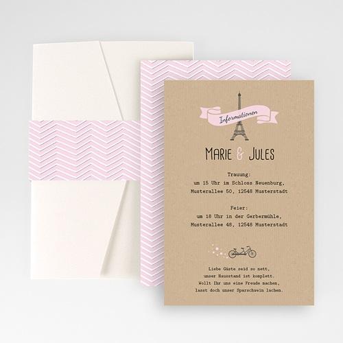 Hochzeitskarten Querformat - Love in Paris 50965