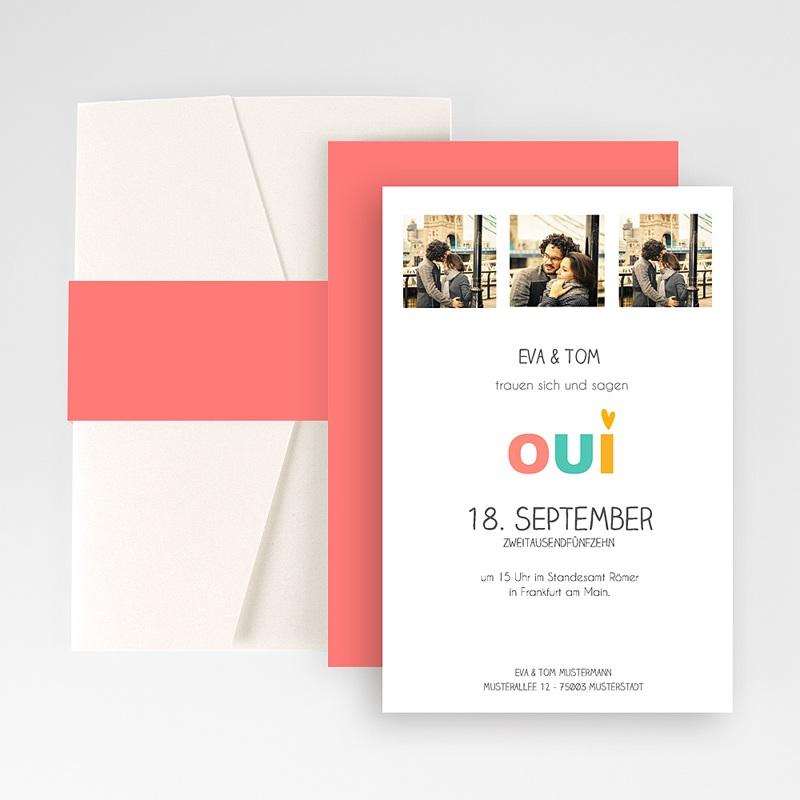 Hochzeitskarten Querformat Spritzig
