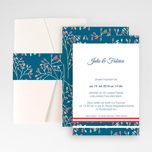 Hochzeitskarten Querformat - Aubusson Stil 50989