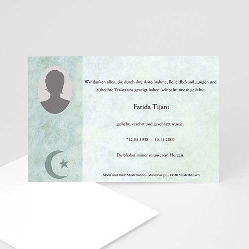 Trauer Danksagung muslimisch - Yasin 5099
