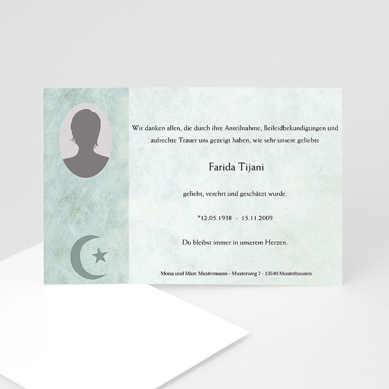 Muslimisch Dankeskarten Trauer Yasin - grün