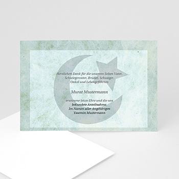 Trauer Danksagung muslimisch - Trauerkarte muslimisch - 1