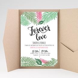 Hochzeitskarten Querformat - Floral - 0