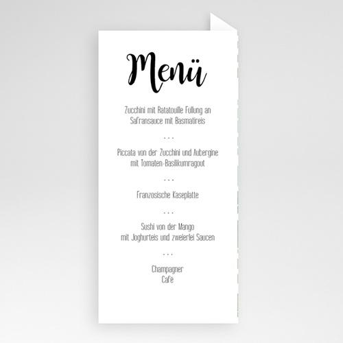 Menükarten Hochzeit - Floraler Look  51057 test