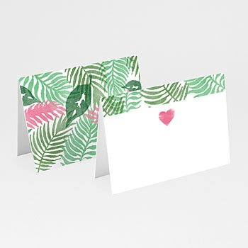 Tischkarten Hochzeit - Floral - 0