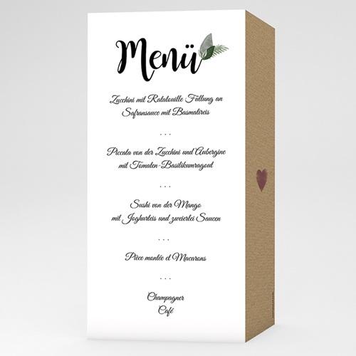 Menükarten Hochzeit - Elegant Vintage 51106