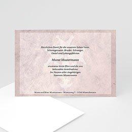 Danksagungskarten Décès Chrétien Trauerweg