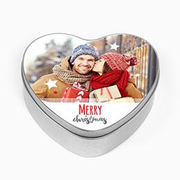 Boite métallique Geschenke Merry Christmas & Foto