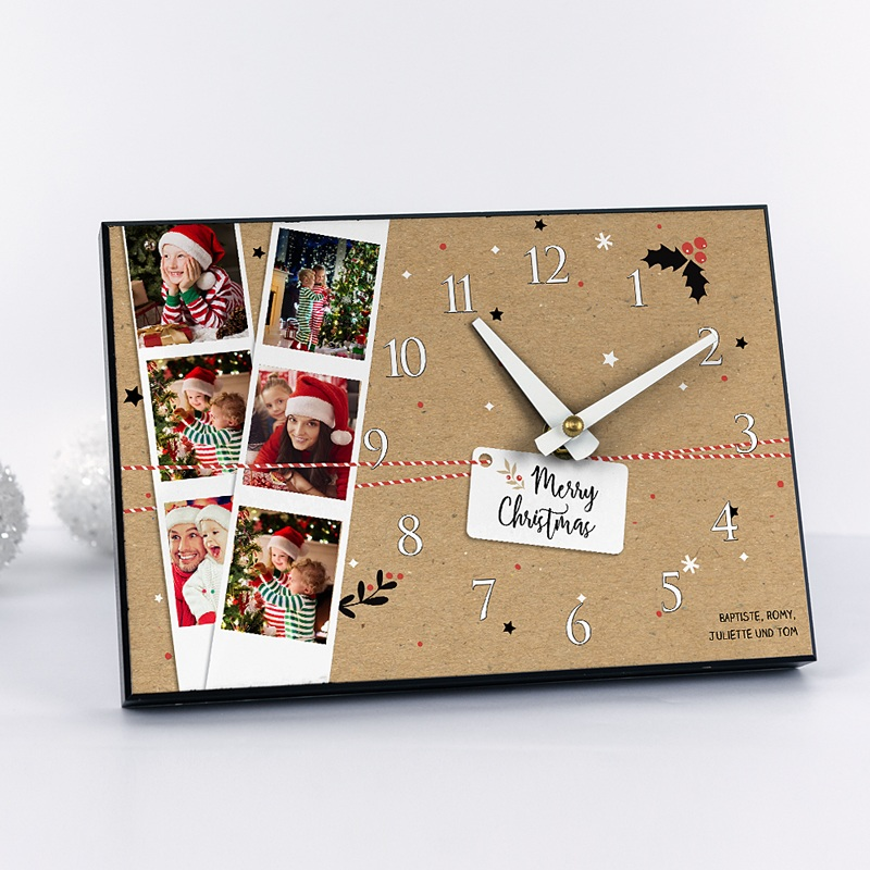 fotouhr individuell gestalten weihnachtszeit. Black Bedroom Furniture Sets. Home Design Ideas