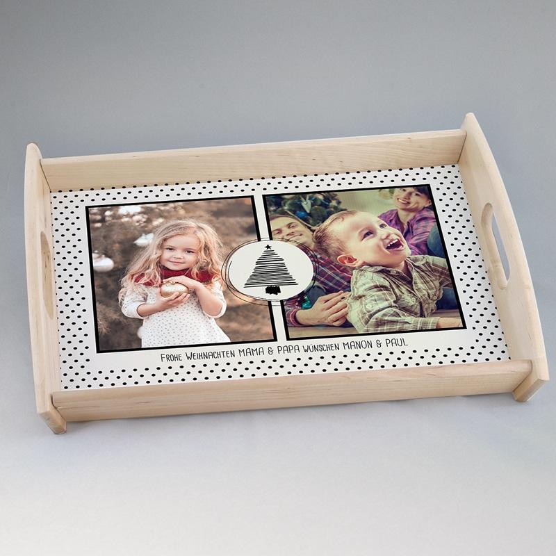 Personalisierte Foto-Tablett  Xmas