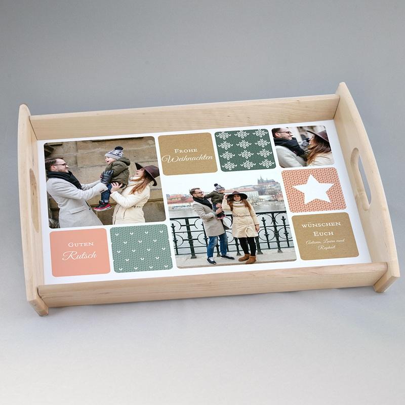 Personalisierte Foto-Tablett  Wollig