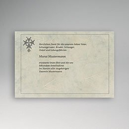 Danksagungskarten Décès Chrétien Malteser kreuz