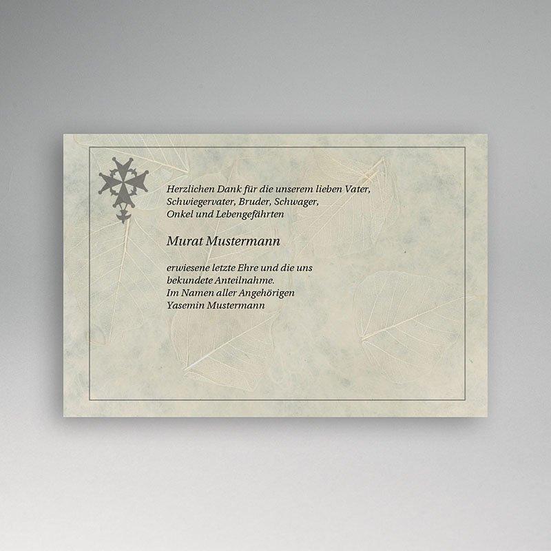 Christlich Dankeskarten Trauer Malteser kreuz